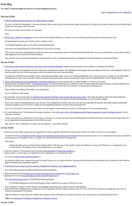 Brutalist Websites – Fefe