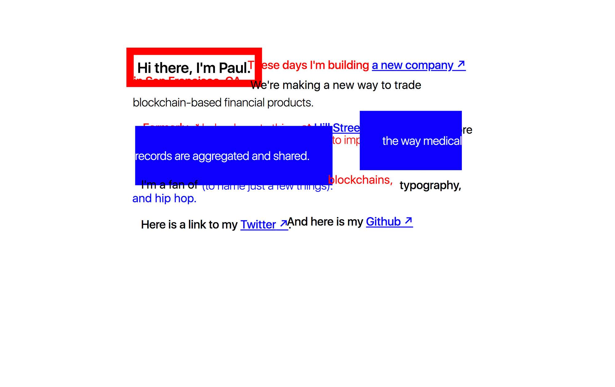 Brutalist Websites – Paul Fletcher-Hill
